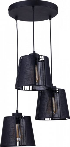 Люстра подвес TK Lighting Carmen Black 1550